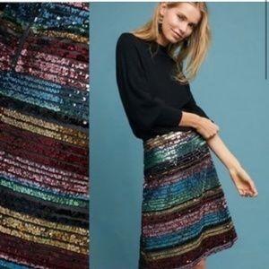 Anthropologie Moulinette Soeurs Sequined Skirt